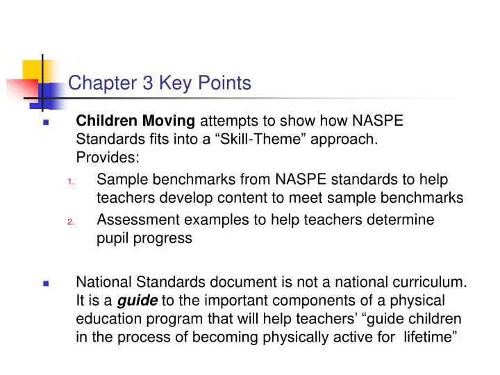 Chapter 3 Key Points