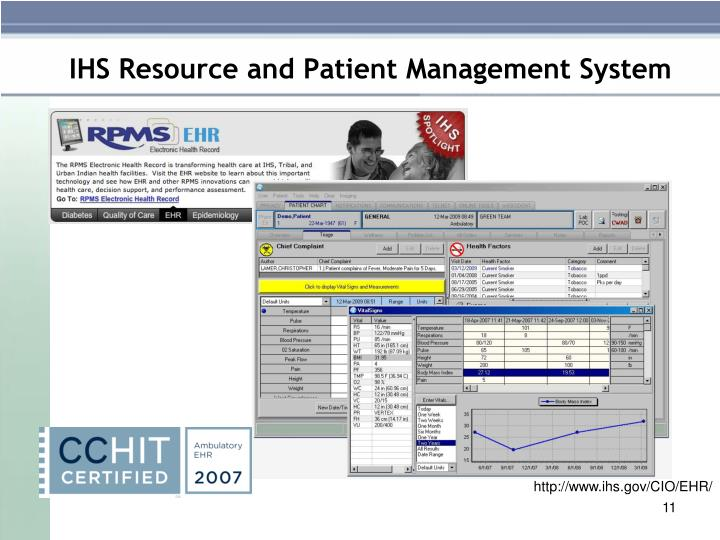 IHS Resource and Patient Management System