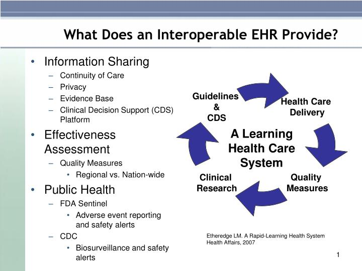 What does an interoperable ehr provide