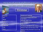 how much more of bloom can you get into your classroom