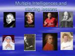 multiple intelligences and starting lessons