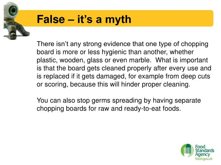 False – it's a myth