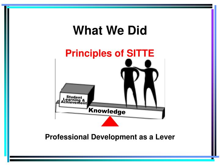 Professional Development as a Lever
