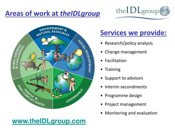 Areas of work at