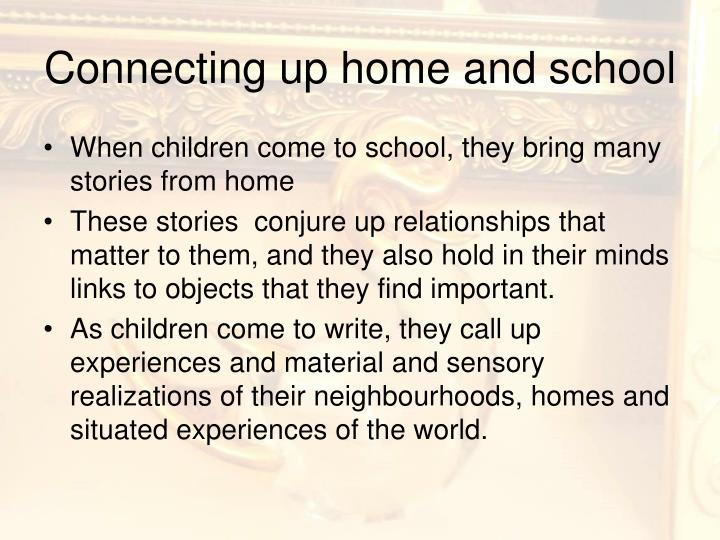 Connecting up home and school
