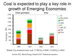 coal is expected to play a key role in growth of emerging economies