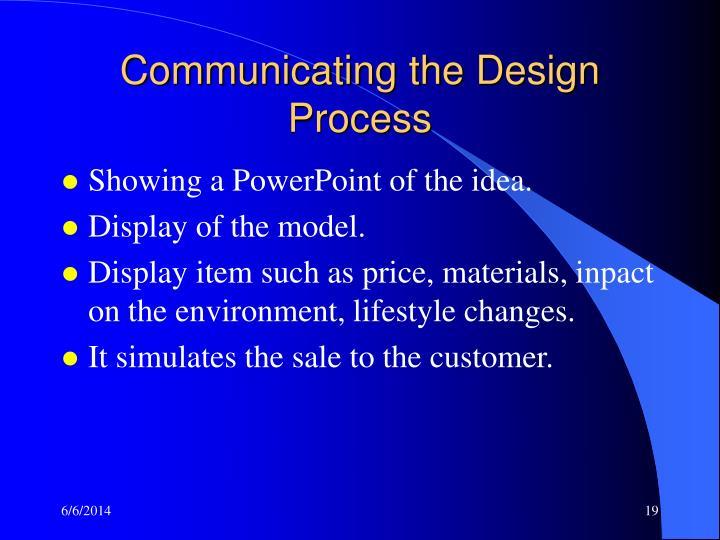 Communicating the Design Process