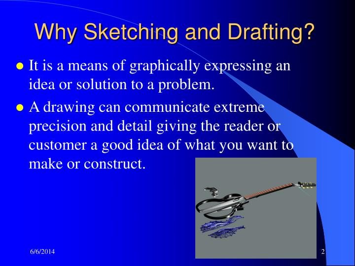 Why Sketching and Drafting?