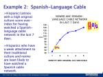 example 2 spanish language cable