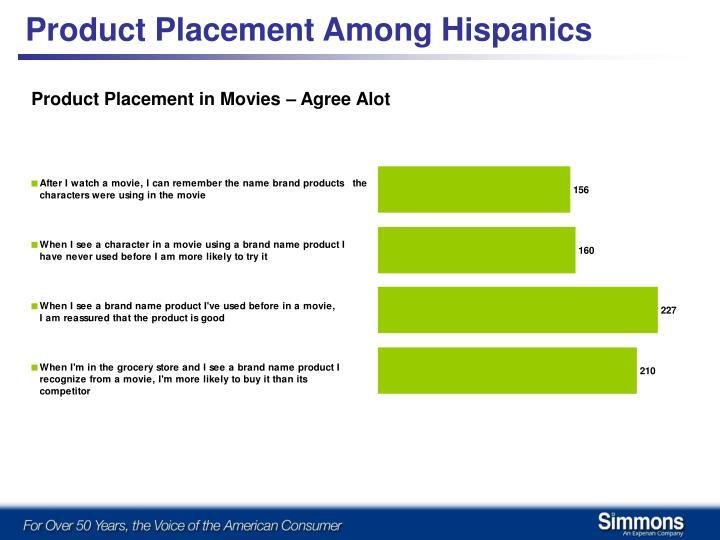 Product Placement Among Hispanics
