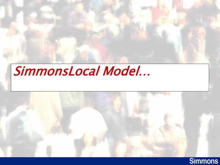SimmonsLocal Model…