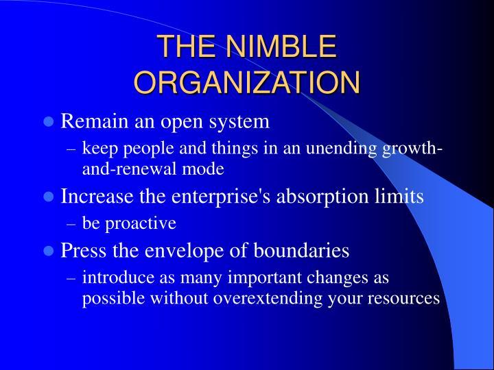 THE NIMBLE ORGANIZATION