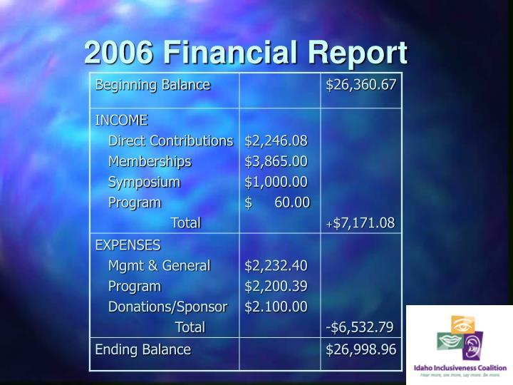 2006 Financial Report