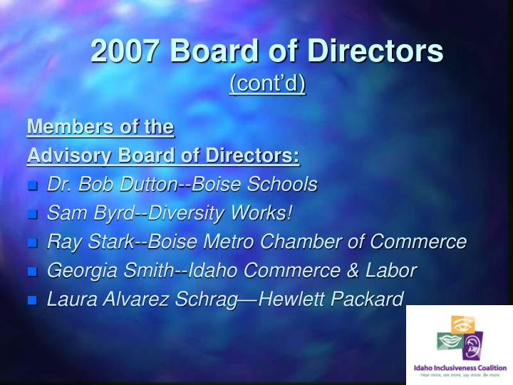 2007 Board of Directors