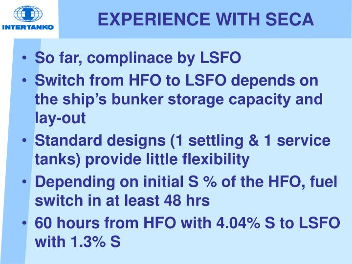 EXPERIENCE WITH SECA