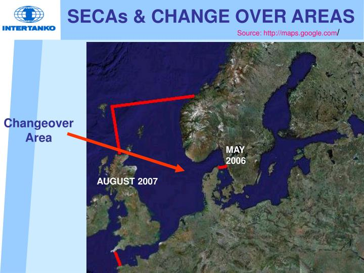 SECAs & CHANGE OVER AREAS