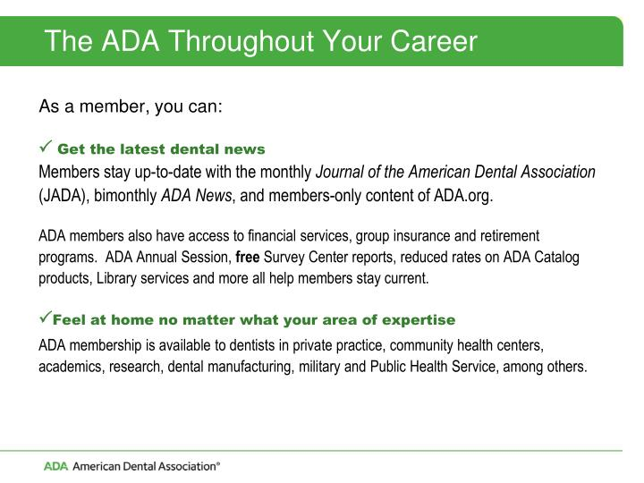 The ADA Throughout Your Career