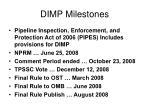 dimp milestones