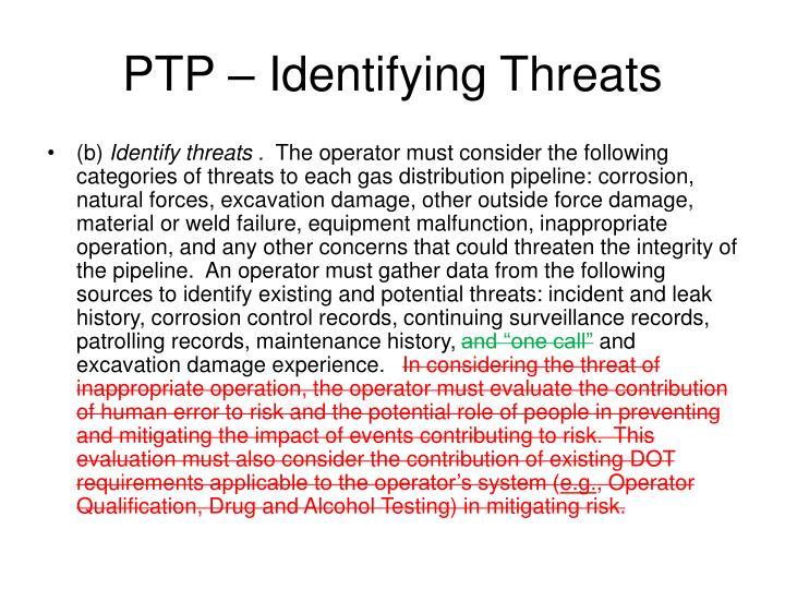 PTP – Identifying Threats