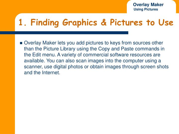 1 finding graphics pictures to use