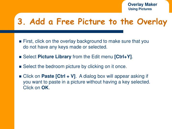 3. Add a Free Picture to the Overlay