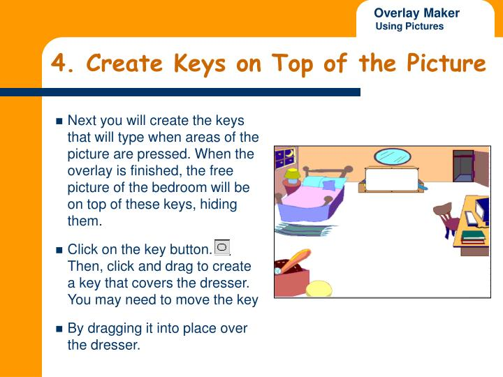 4. Create Keys on Top of the Picture