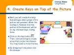 4 create keys on top of the picture