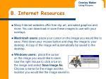b internet resources