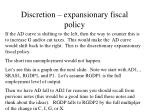 discretion expansionary fiscal policy