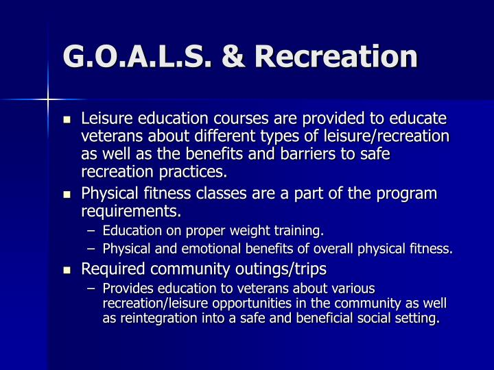 G.O.A.L.S. & Recreation