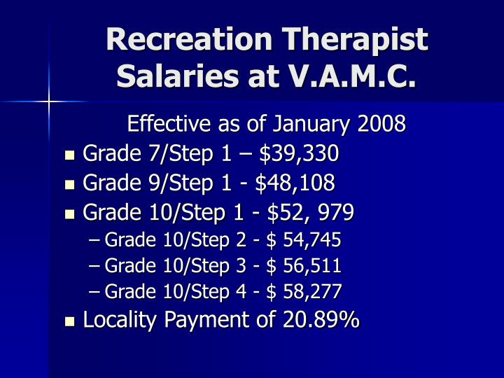 Recreation Therapist Salaries at V.A.M.C.