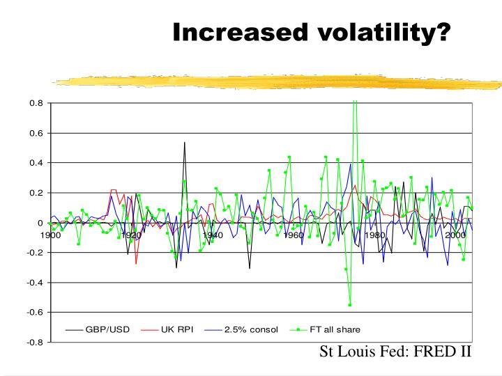 Increased volatility?