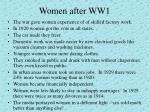 women after ww1