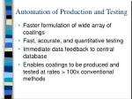 automation of production and testing1