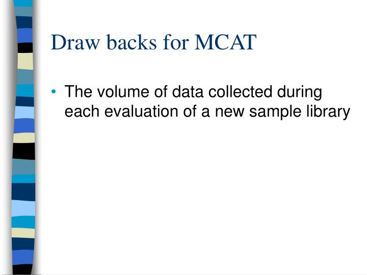 Draw backs for MCAT