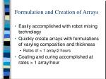 formulation and creation of arrays1
