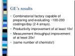 ge s results