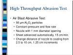 high throughput abrasion test1