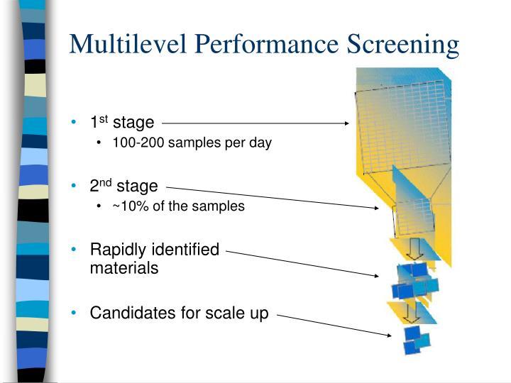 Multilevel Performance Screening