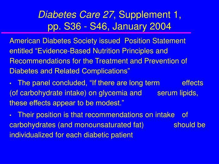 Diabetes Care 27