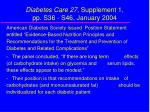 diabetes care 27 supplement 1 pp s36 s46 january 2004
