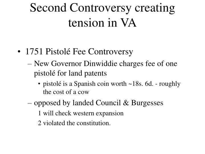 Second Controversy creating tension in VA