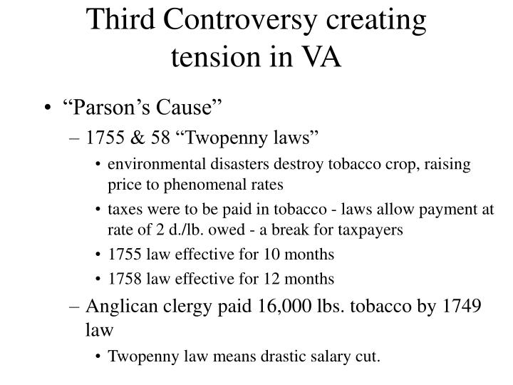 Third Controversy creating tension in VA