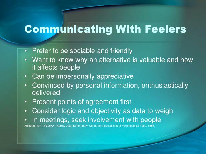 Communicating With Feelers