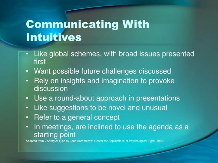 Communicating With Intuitives