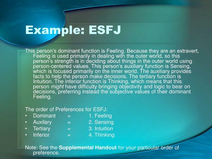 Example: ESFJ