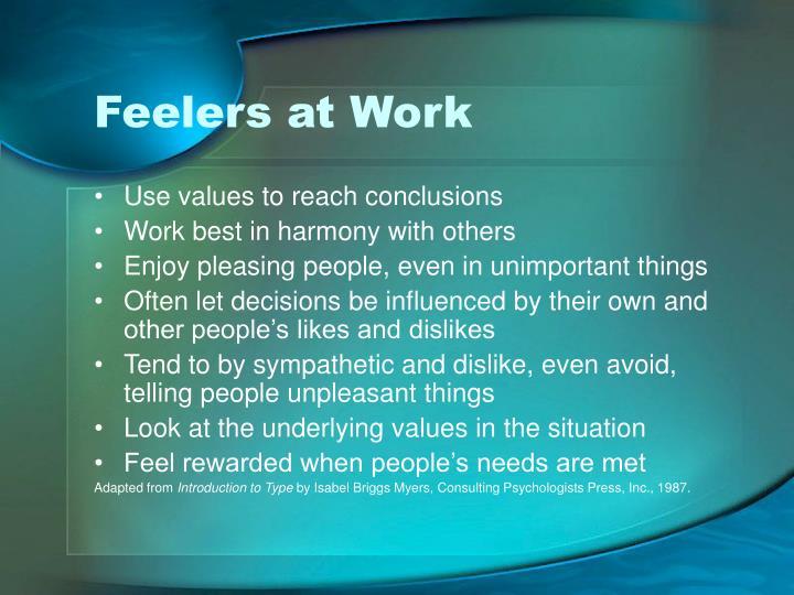 Feelers at Work