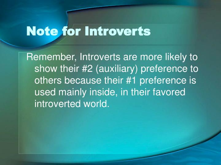 Note for Introverts