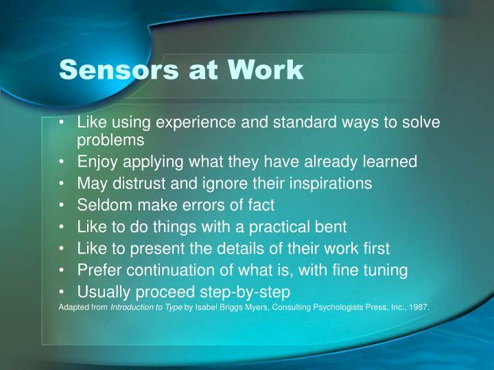 Sensors at Work