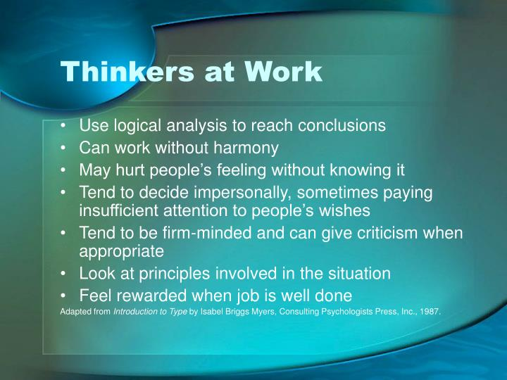 Thinkers at Work